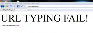 URL Typing Fail